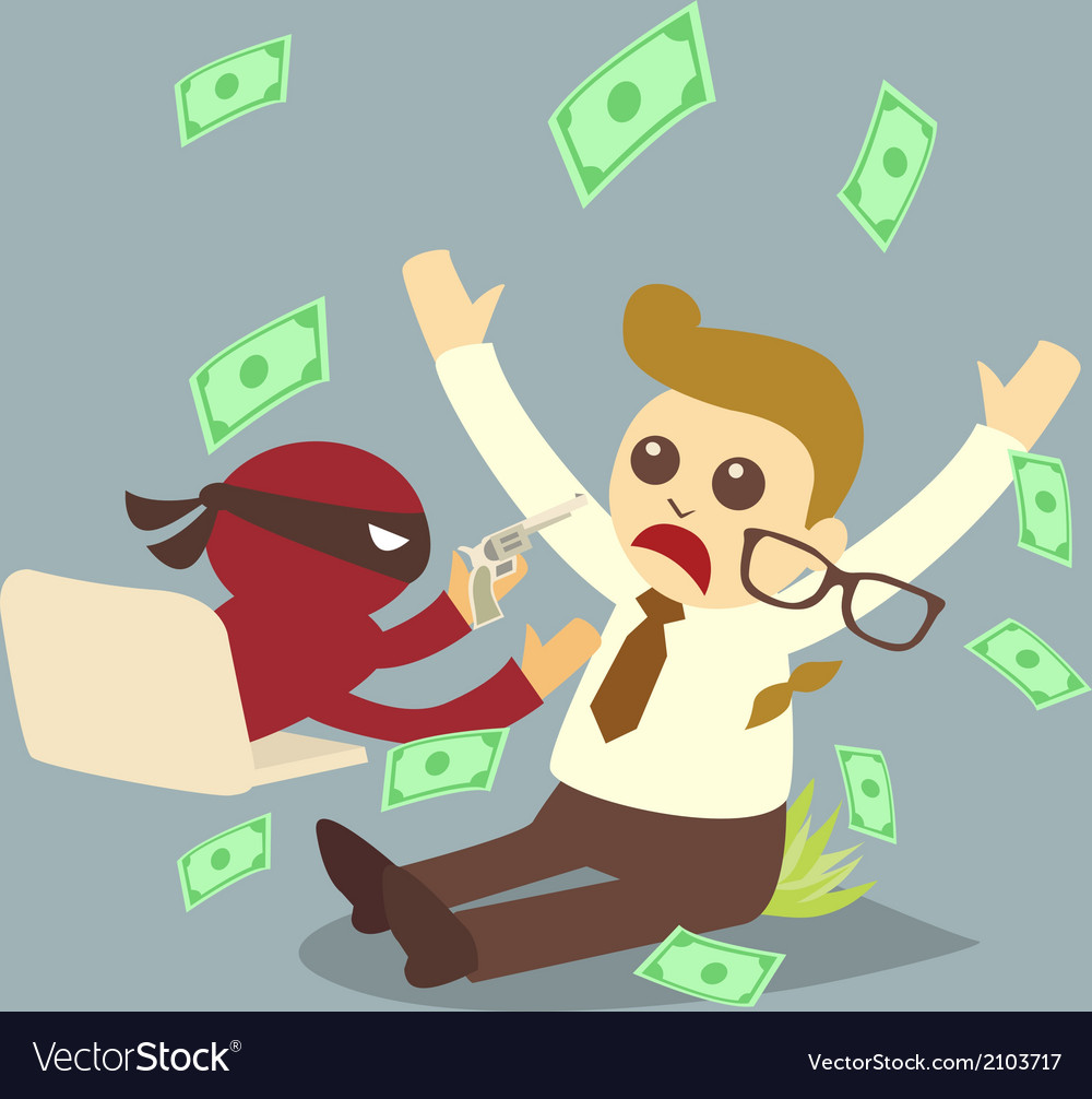 Computer crime concept cartoon vector | Price: 1 Credit (USD $1)