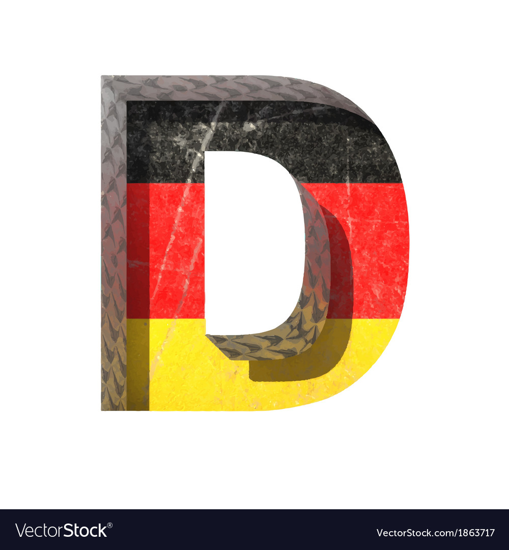 Germany cutted figure d vector | Price: 1 Credit (USD $1)