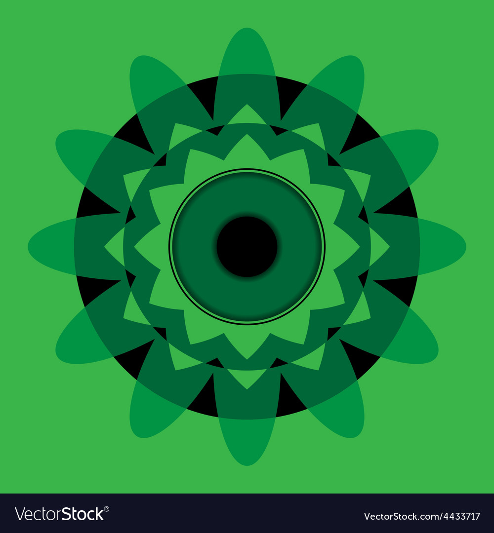 Green mandala with black eye vector | Price: 1 Credit (USD $1)