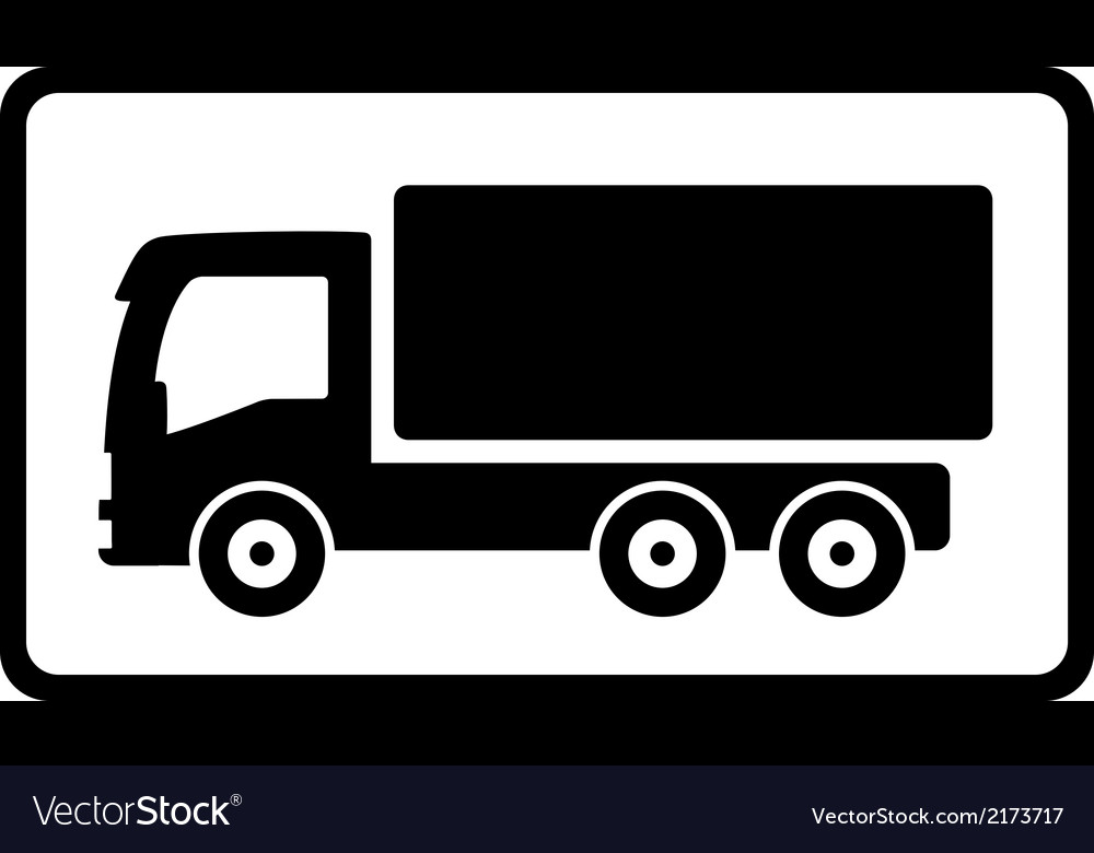 Icon with black islolated truck vector | Price: 1 Credit (USD $1)
