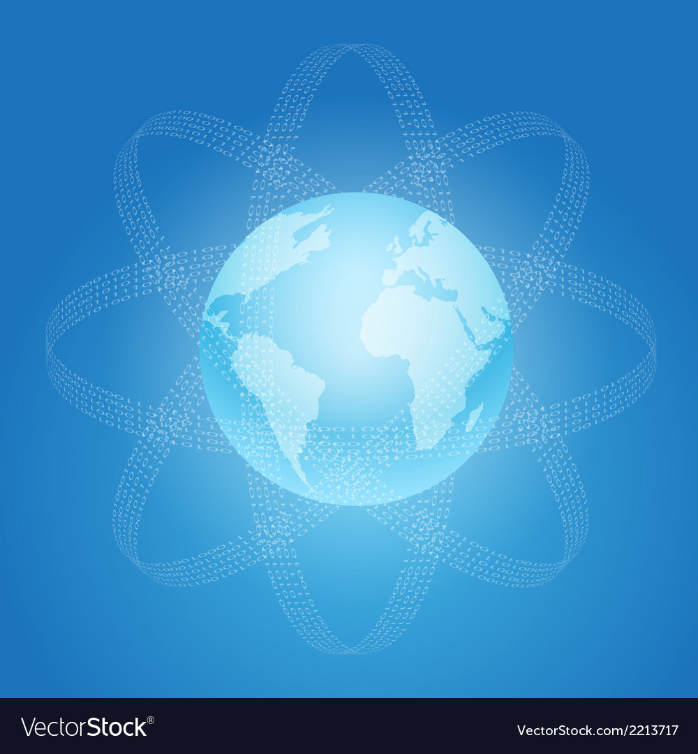 Internet and world concept symbol vector | Price: 1 Credit (USD $1)