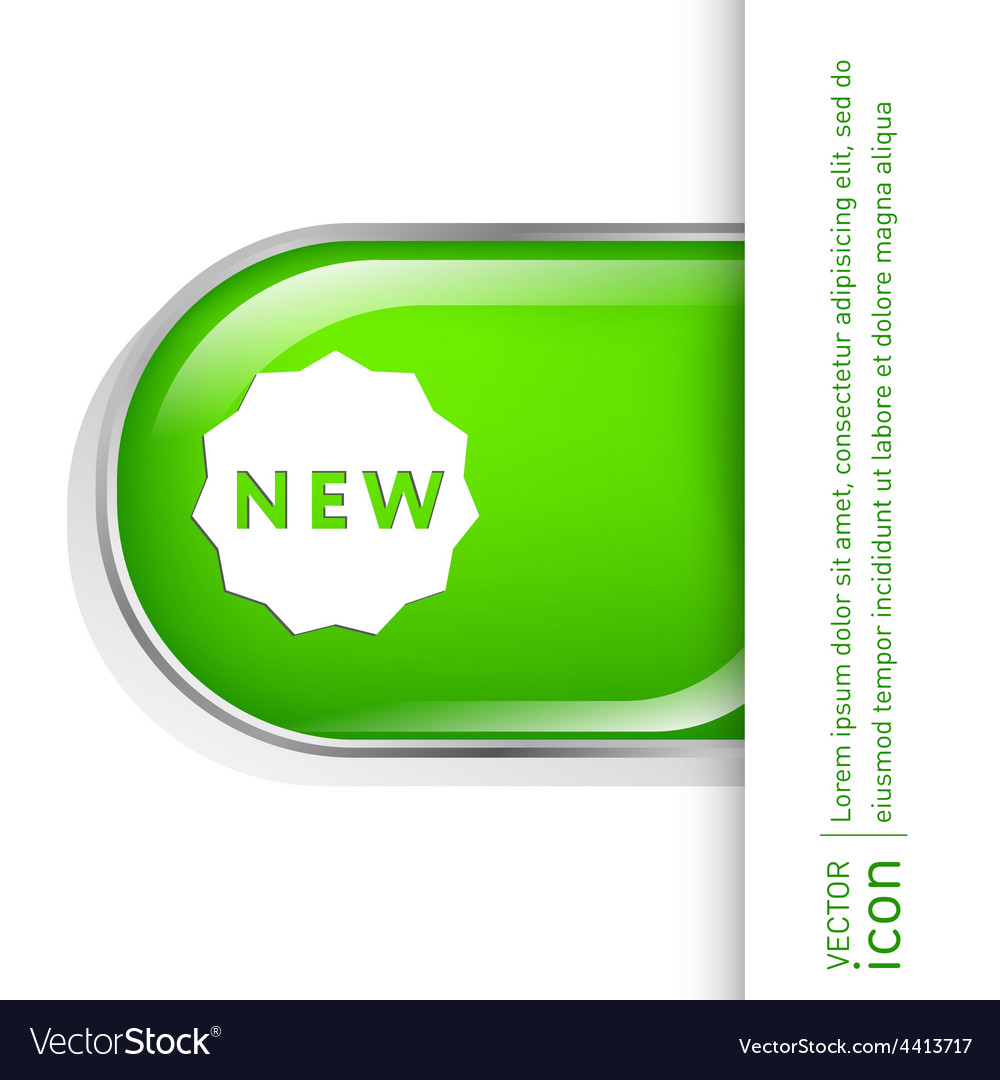 Label new symbol of the new icon novelty vector | Price: 1 Credit (USD $1)