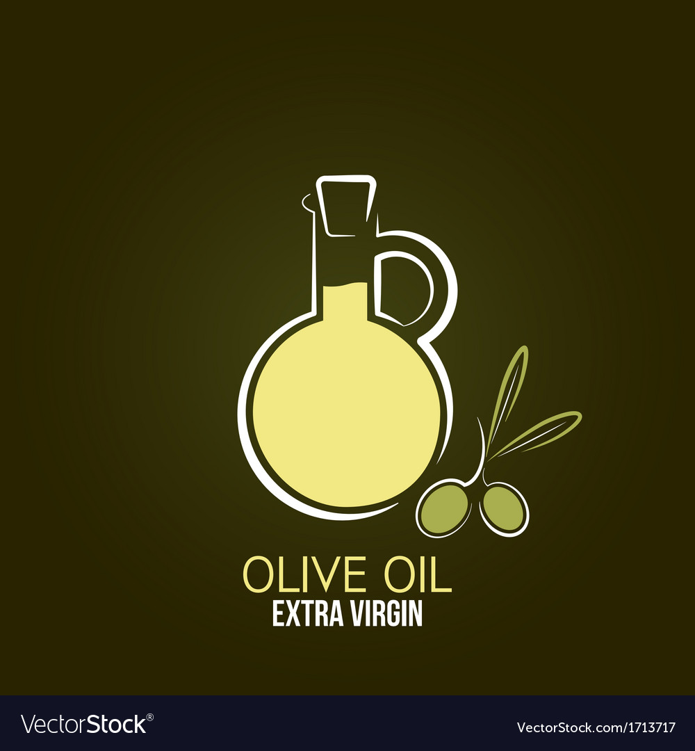Olive oil design background vector | Price: 1 Credit (USD $1)