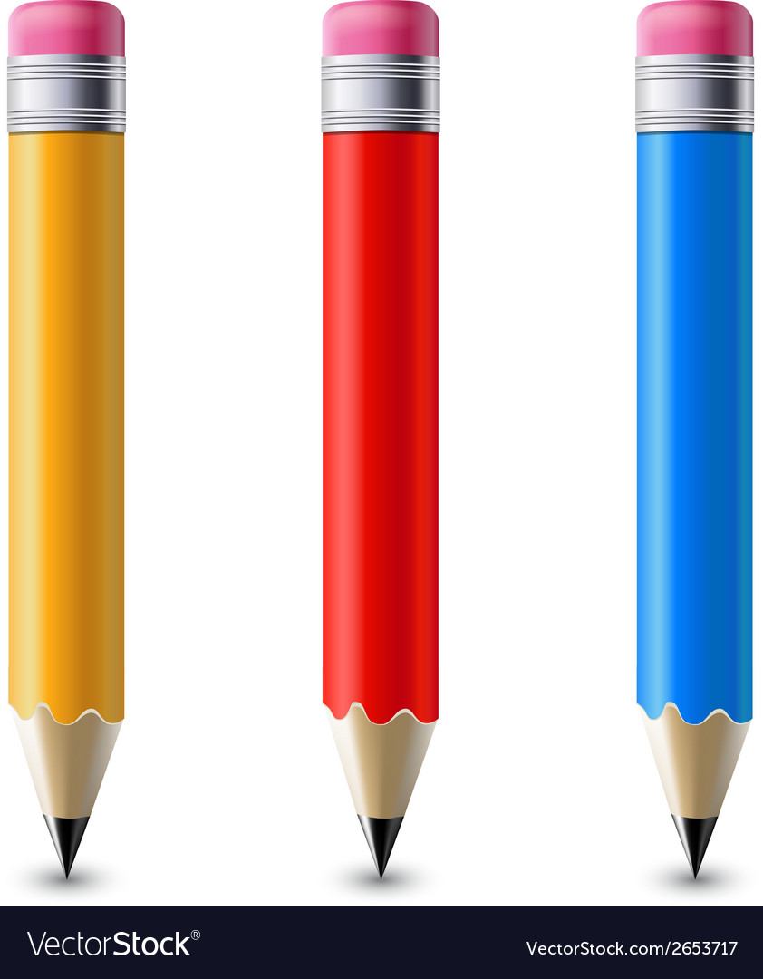 Pencils set vector | Price: 1 Credit (USD $1)