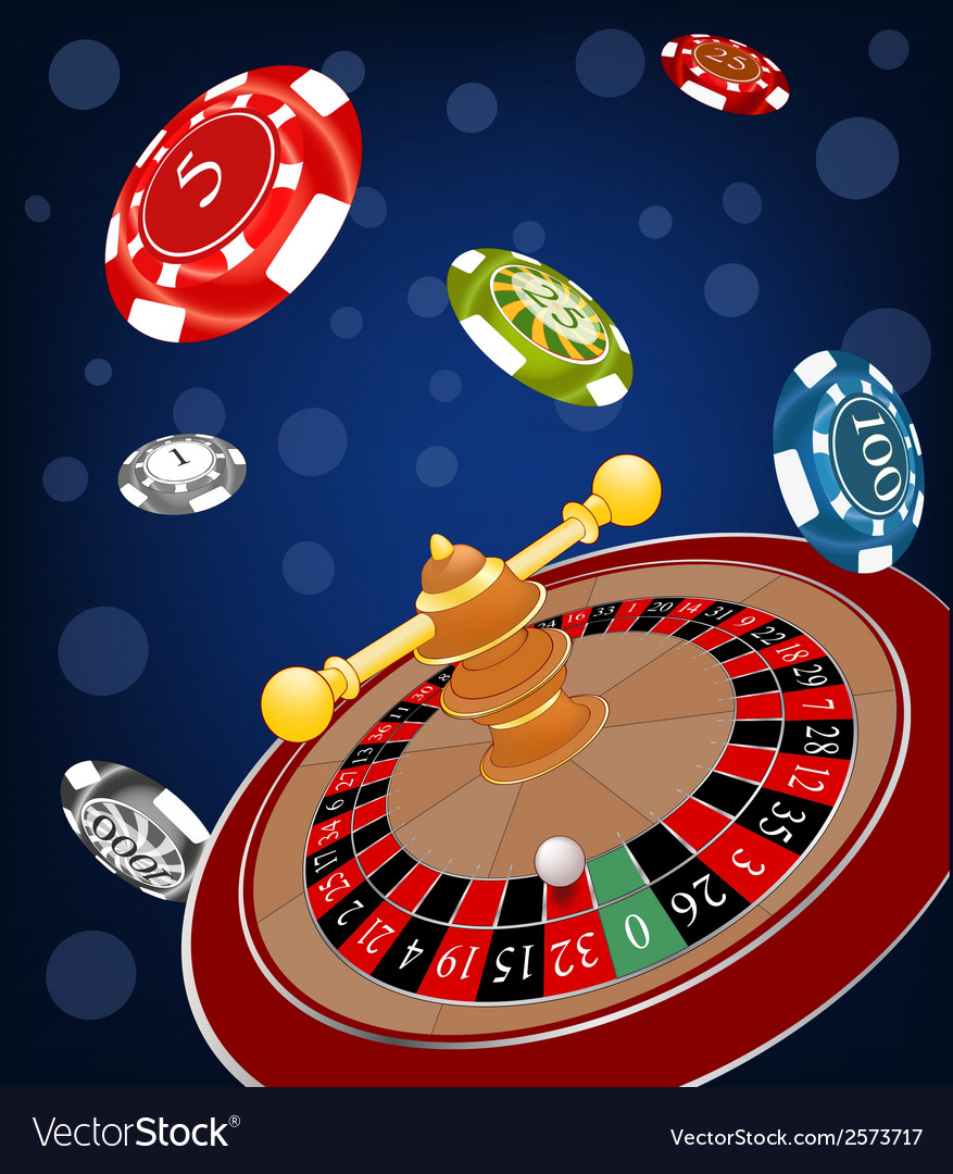 Roulette wheel cartoon vector | Price: 1 Credit (USD $1)