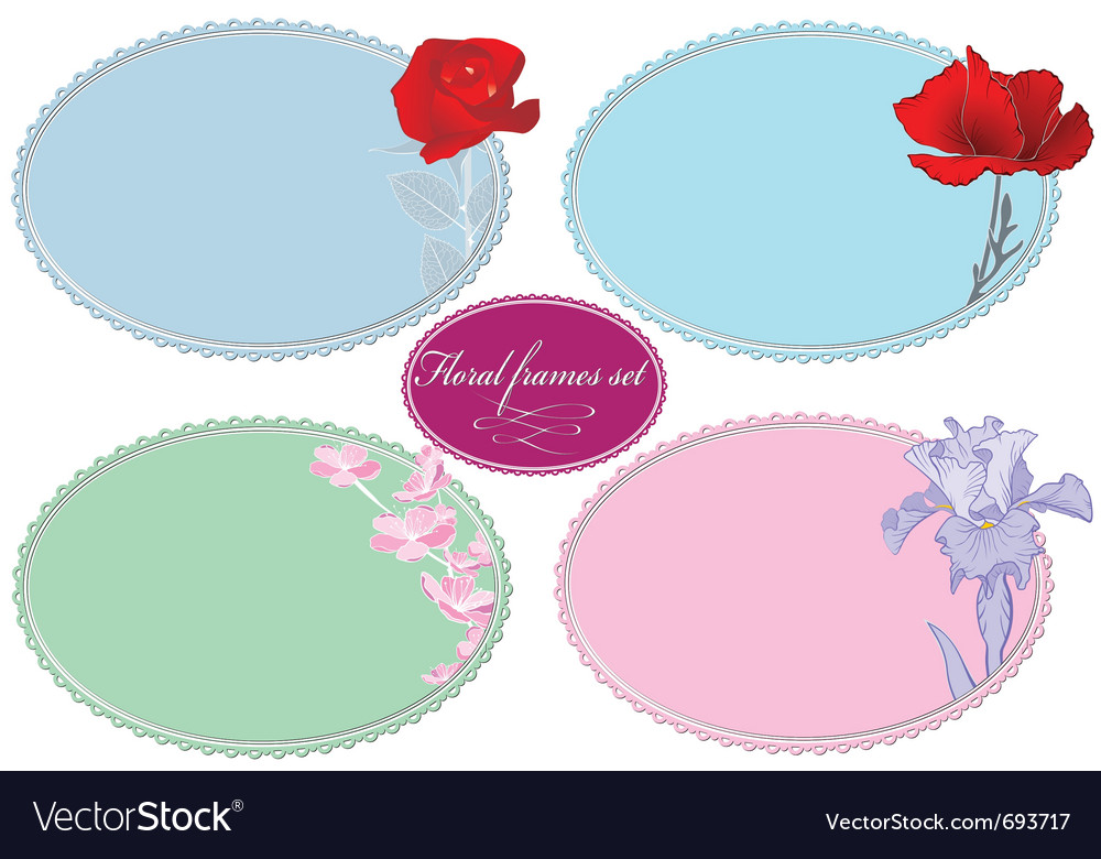 Summer and spring frames vector | Price: 1 Credit (USD $1)