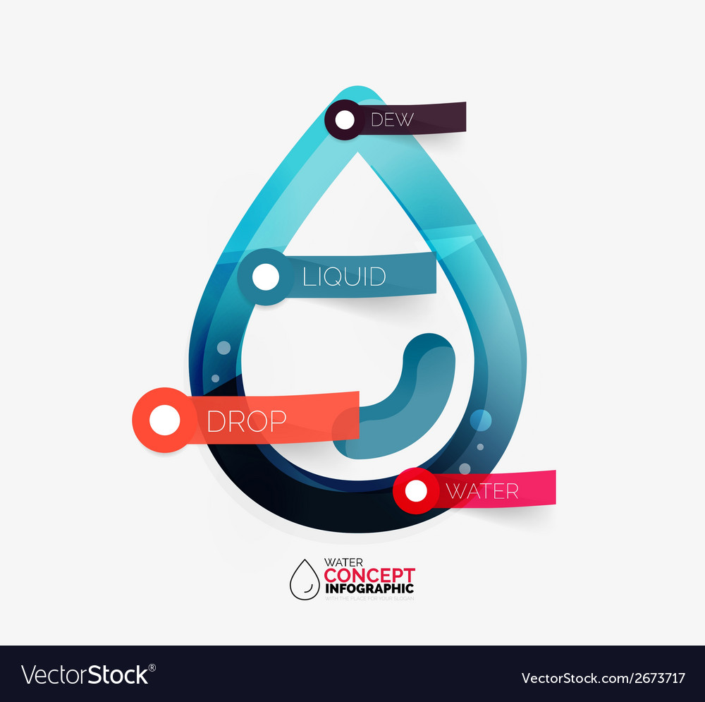 Water drop info layout concept vector | Price: 1 Credit (USD $1)