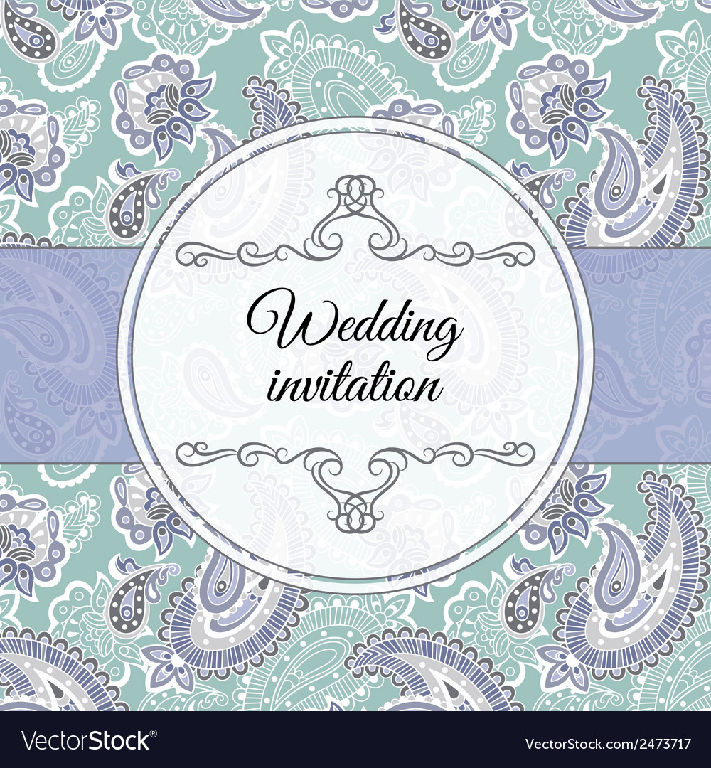 Wedding invitation in beige style vector | Price: 1 Credit (USD $1)