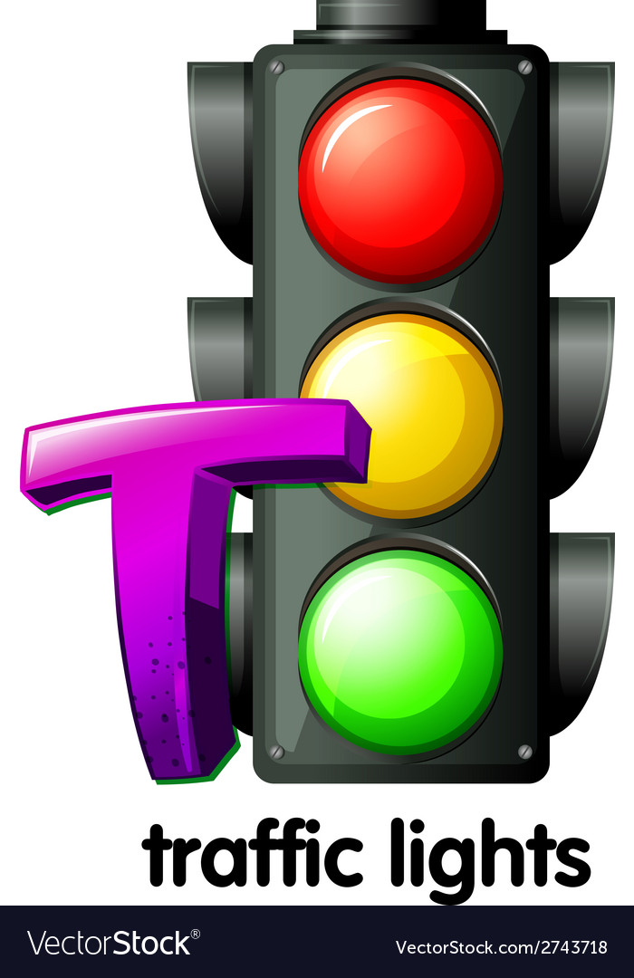 A letter t for traffic lights vector | Price: 1 Credit (USD $1)
