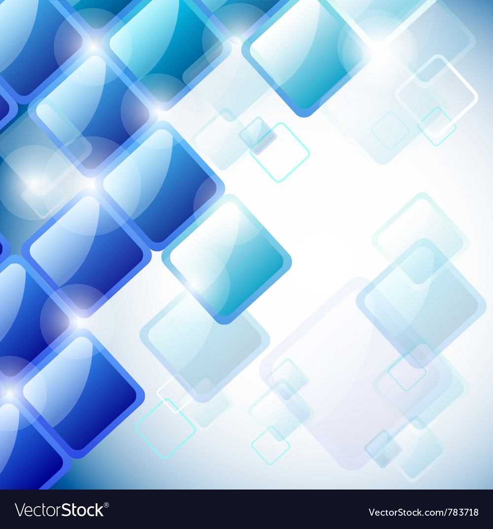 Abstract blue squares vector | Price: 1 Credit (USD $1)