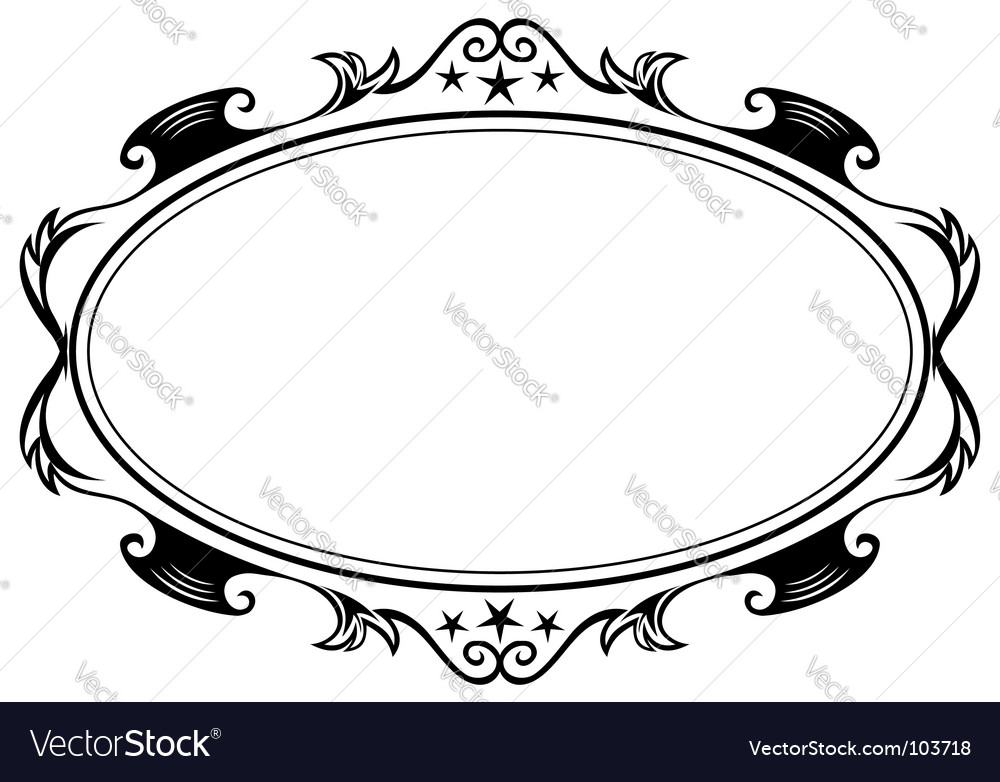 Antique oval frame vector | Price: 1 Credit (USD $1)