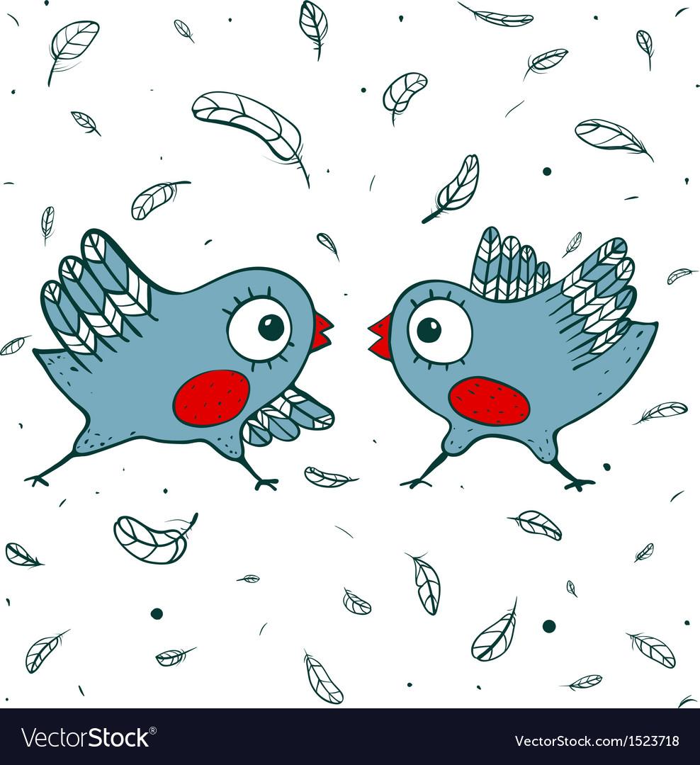 Birds quarrel vector | Price: 1 Credit (USD $1)