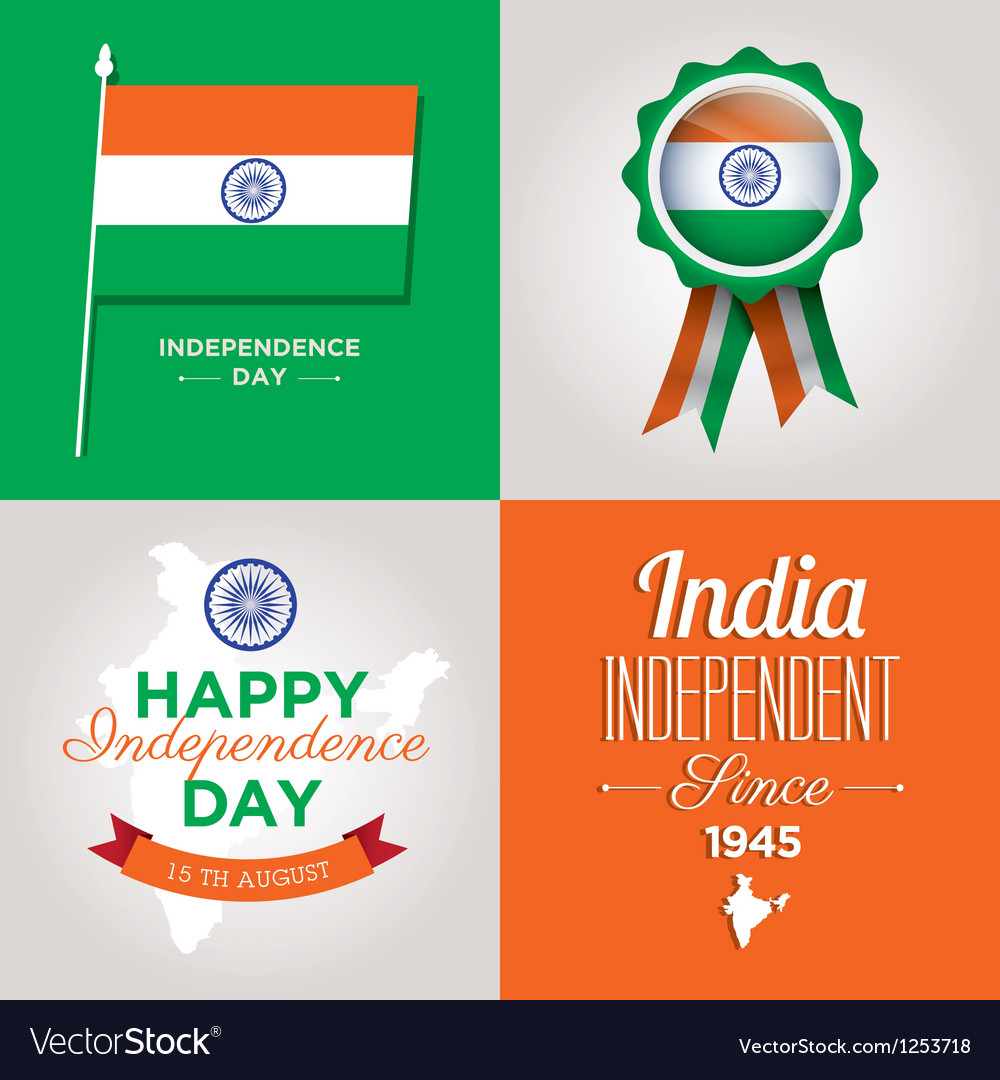 Independence day card india vector | Price: 1 Credit (USD $1)