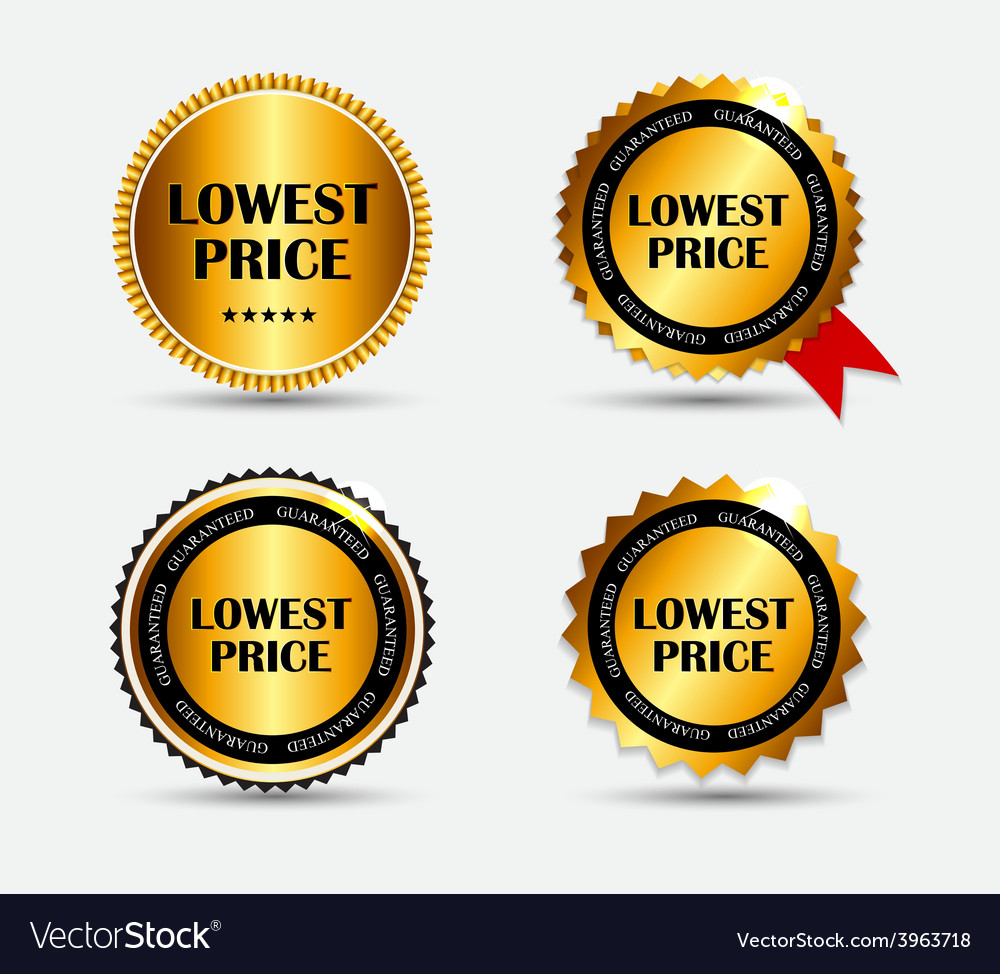 Lowest price label set vector | Price: 1 Credit (USD $1)