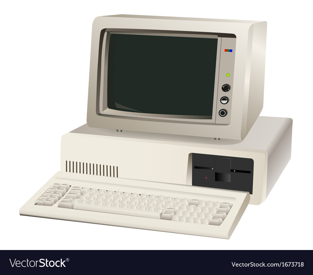 Old computer unit vector | Price: 1 Credit (USD $1)