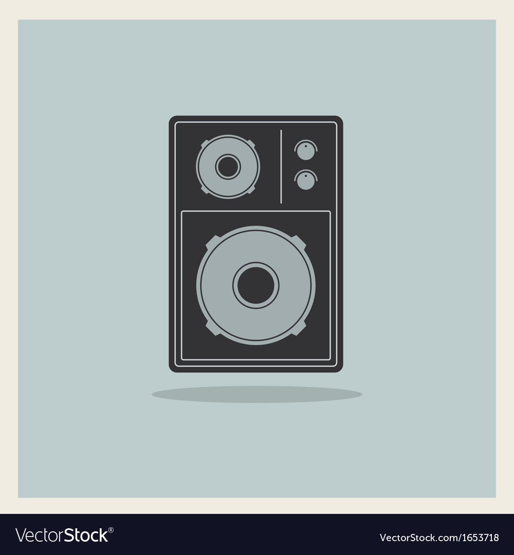 Retro background loudspeaker vector | Price: 1 Credit (USD $1)
