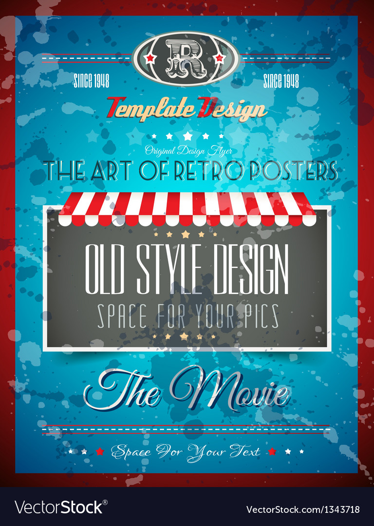 Vintage retro page or cover template vector | Price: 1 Credit (USD $1)