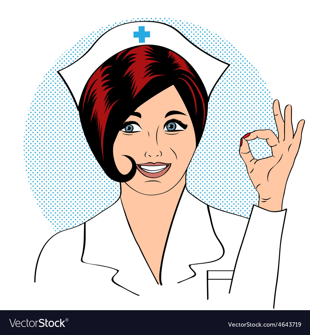Beautiful friendly and confident nurse vector   Price: 1 Credit (USD $1)