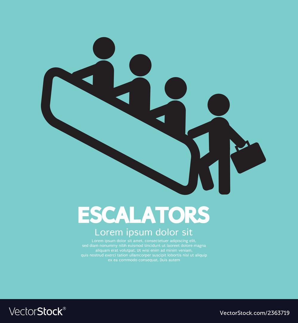 Escalators vector | Price: 1 Credit (USD $1)