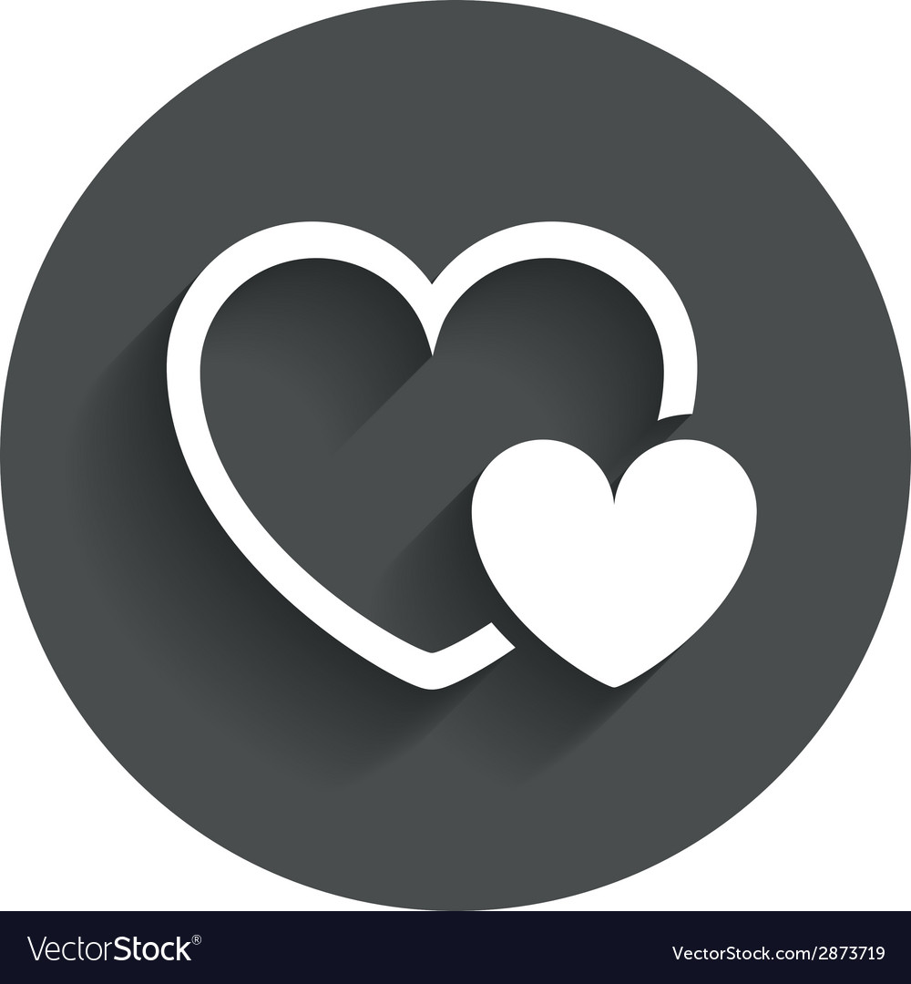 Hearts sign icon love symbol vector | Price: 1 Credit (USD $1)