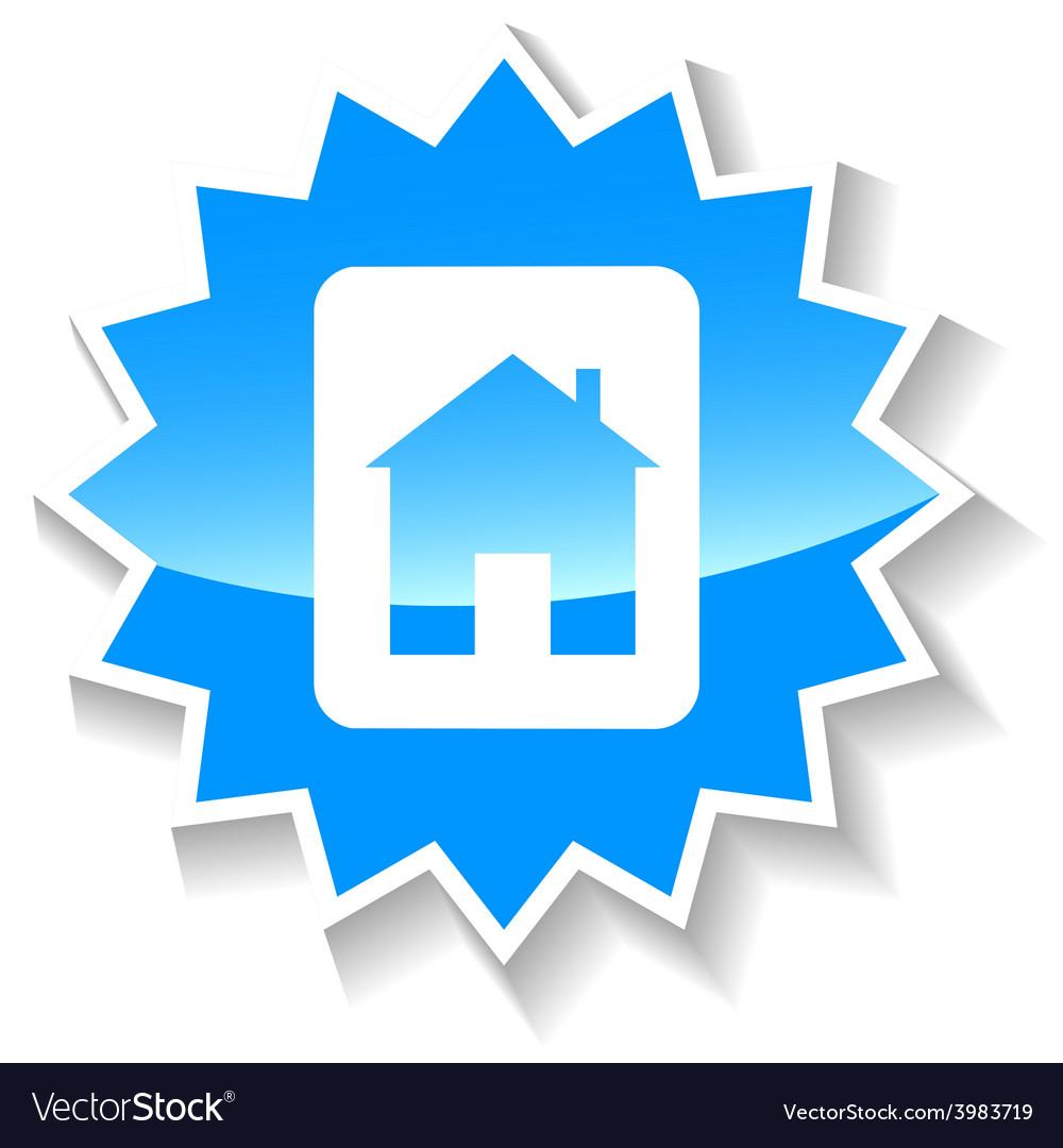 Home blue icon vector | Price: 1 Credit (USD $1)