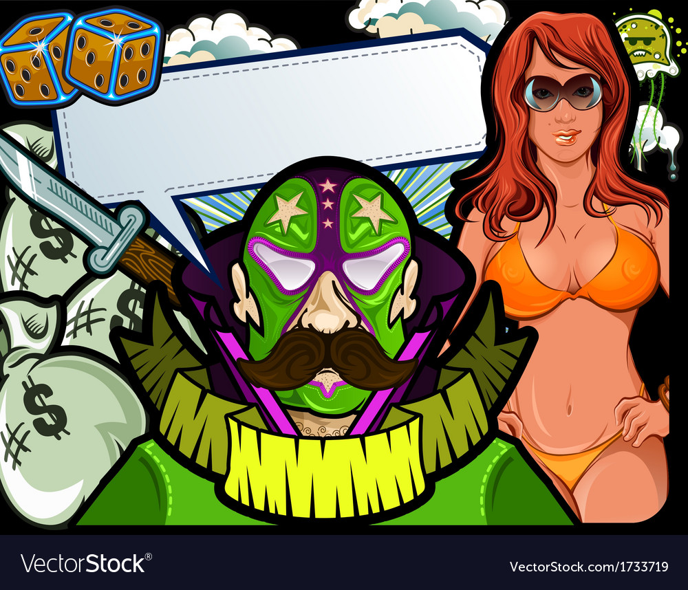 Mexican wrestler vector | Price: 3 Credit (USD $3)