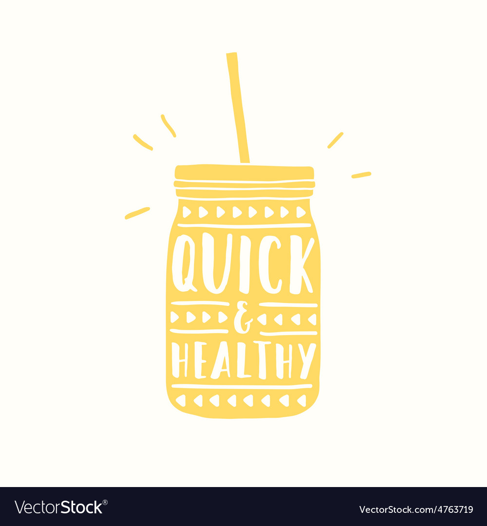 Quick and healthy jar silhouette vector | Price: 1 Credit (USD $1)