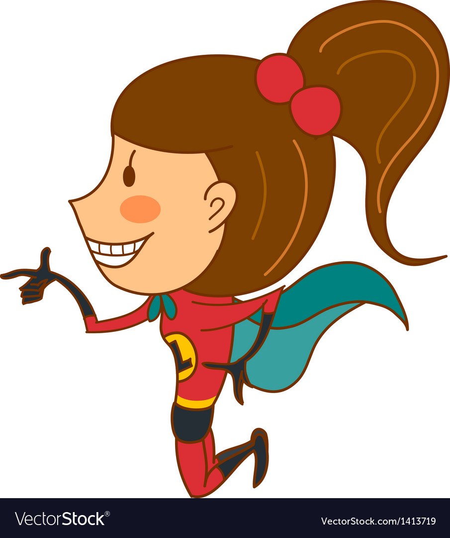 Side view of girl smiling vector   Price: 3 Credit (USD $3)
