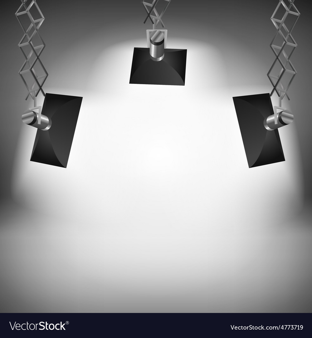 Spot light abstract club gallery theater interior vector | Price: 1 Credit (USD $1)