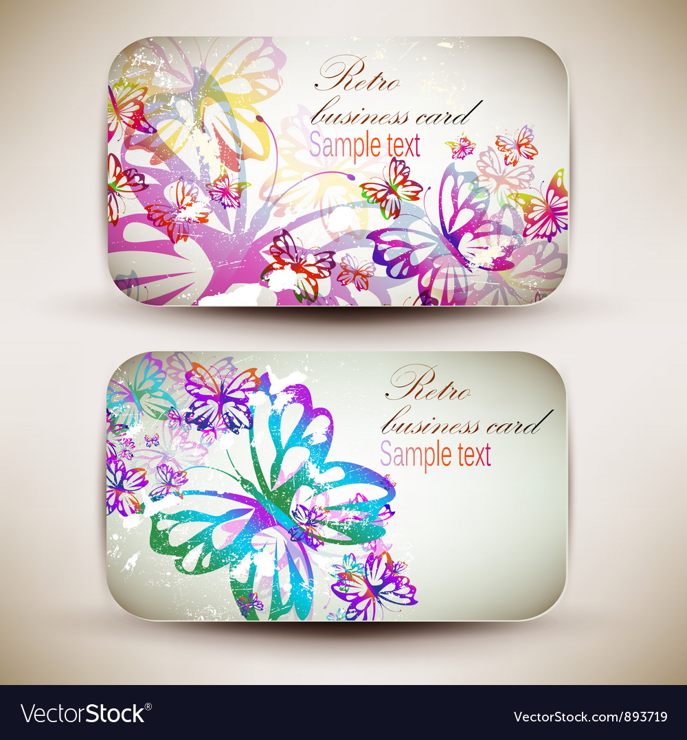 Vintage business-card set vector | Price: 1 Credit (USD $1)