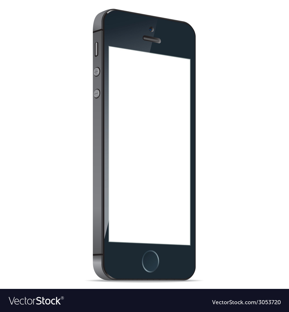 Black mobile apple iphone 5s and iphone 6 plus vector | Price: 1 Credit (USD $1)