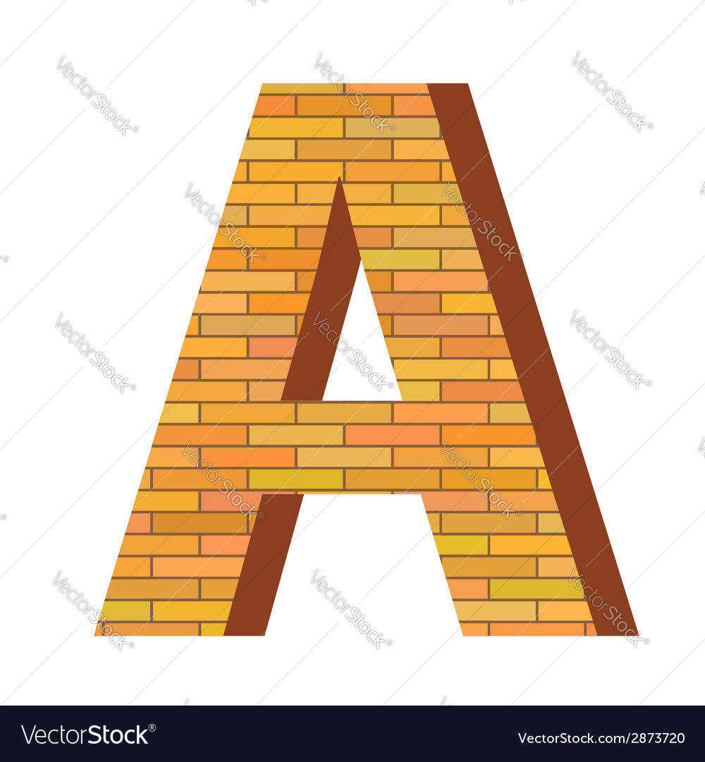 Brick letter a vector | Price: 1 Credit (USD $1)