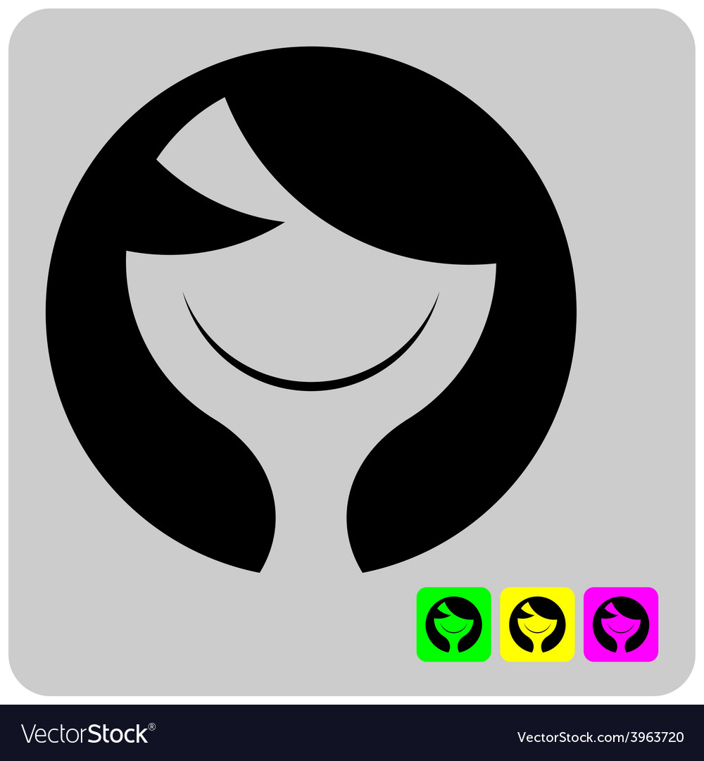 Cheerful stylized alien woman face vector | Price: 1 Credit (USD $1)