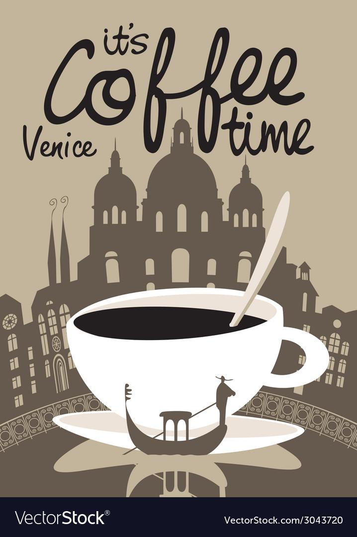 Coffee venice vector | Price: 1 Credit (USD $1)