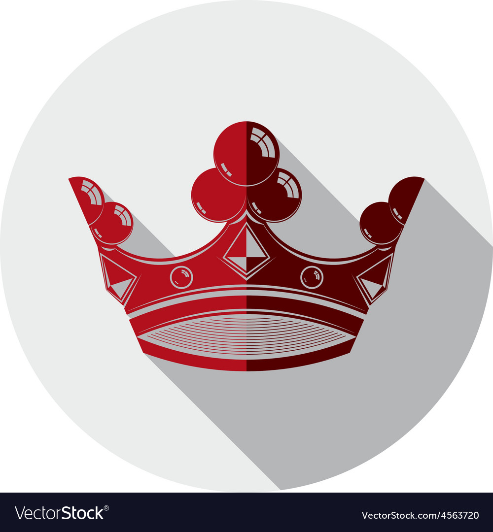 Decorative imperial 3d icon isolated on white king vector | Price: 1 Credit (USD $1)