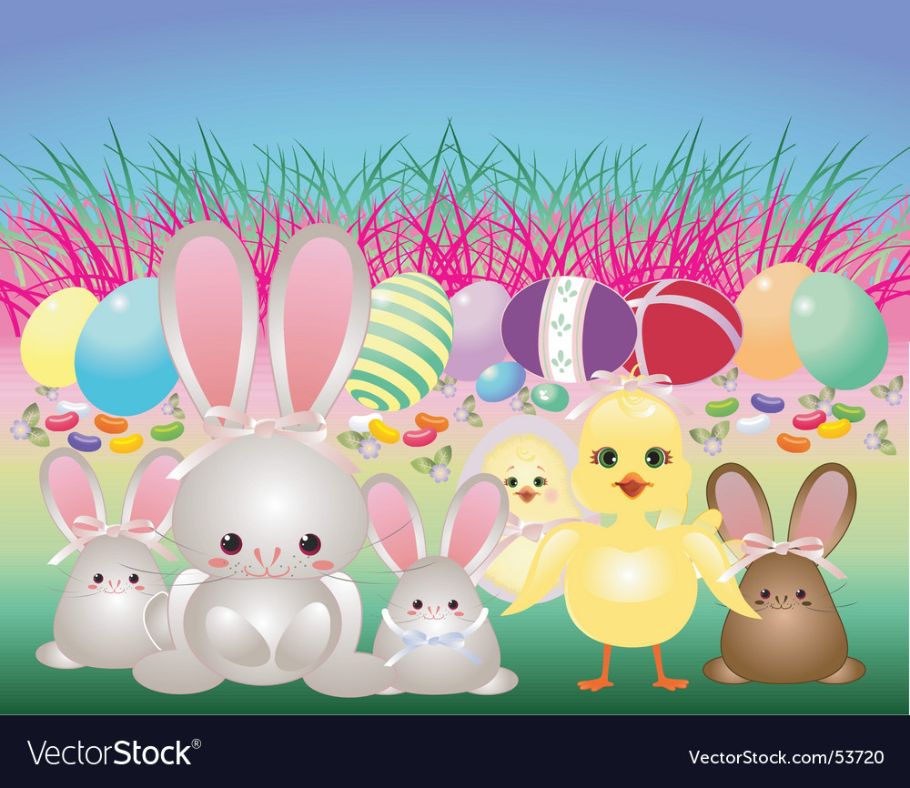 Easter babies vector | Price: 1 Credit (USD $1)