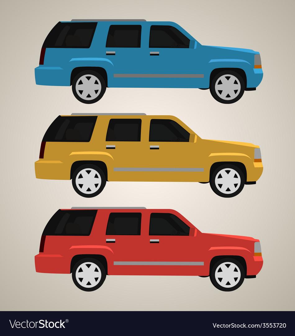 Flat 4x4 car 2 vector | Price: 1 Credit (USD $1)