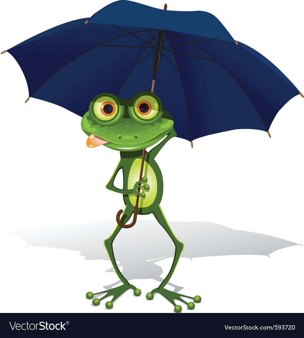 Frog and umbrella vector | Price: 3 Credit (USD $3)