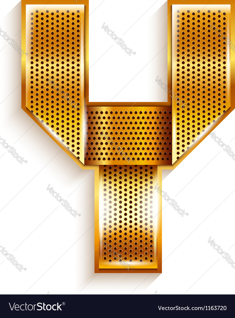 Letter metal gold ribbon - y vector | Price: 1 Credit (USD $1)
