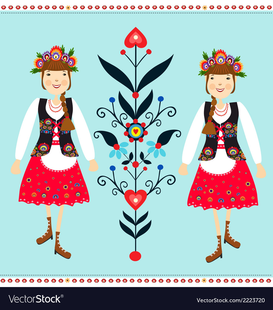 Polish folk vector | Price: 1 Credit (USD $1)