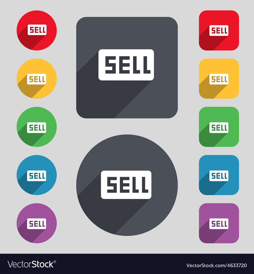Sell contributor earnings icon sign a set of 12 vector | Price: 1 Credit (USD $1)