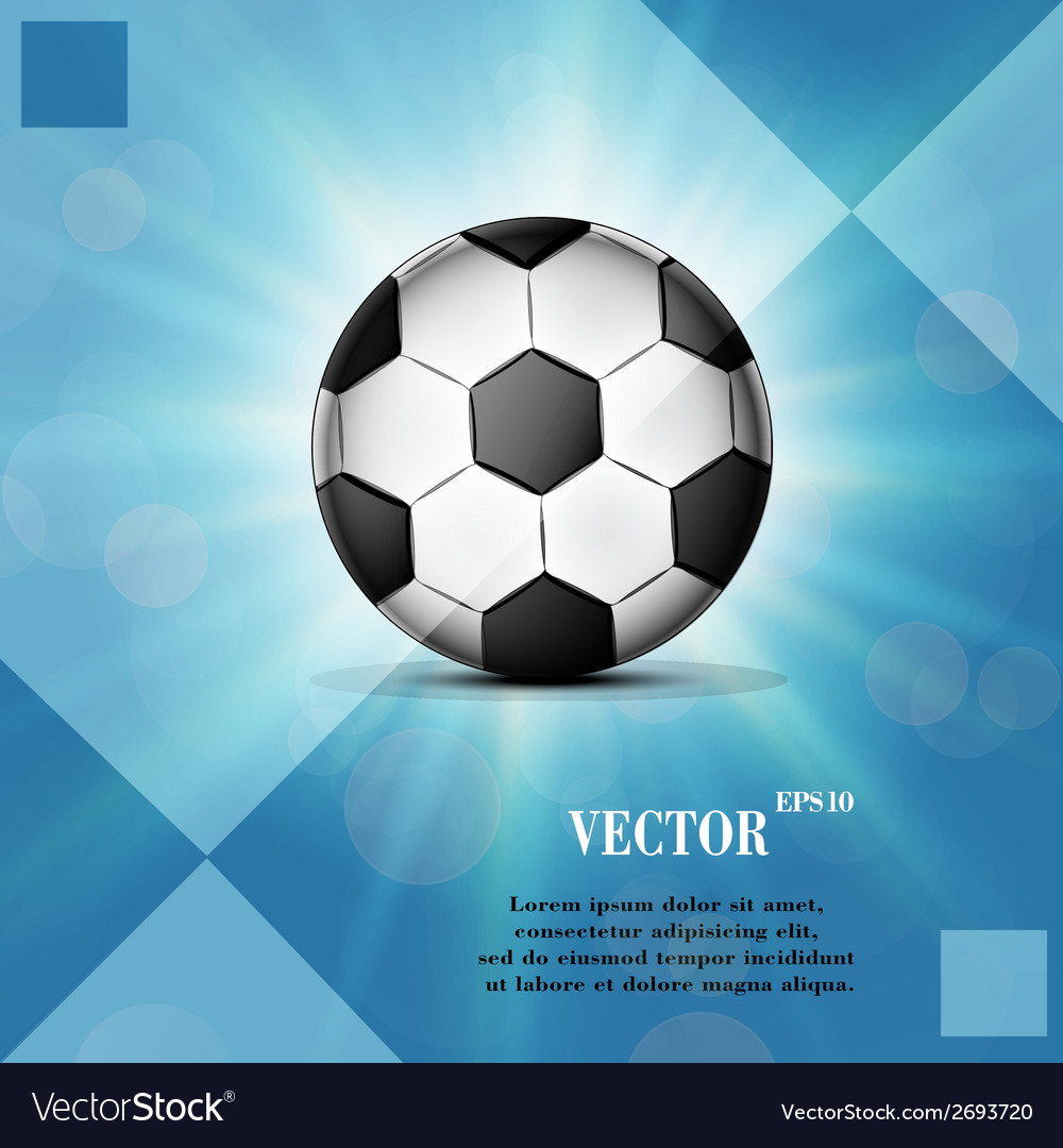 Soccer ball web icon on a flat geometric abstract vector | Price: 1 Credit (USD $1)