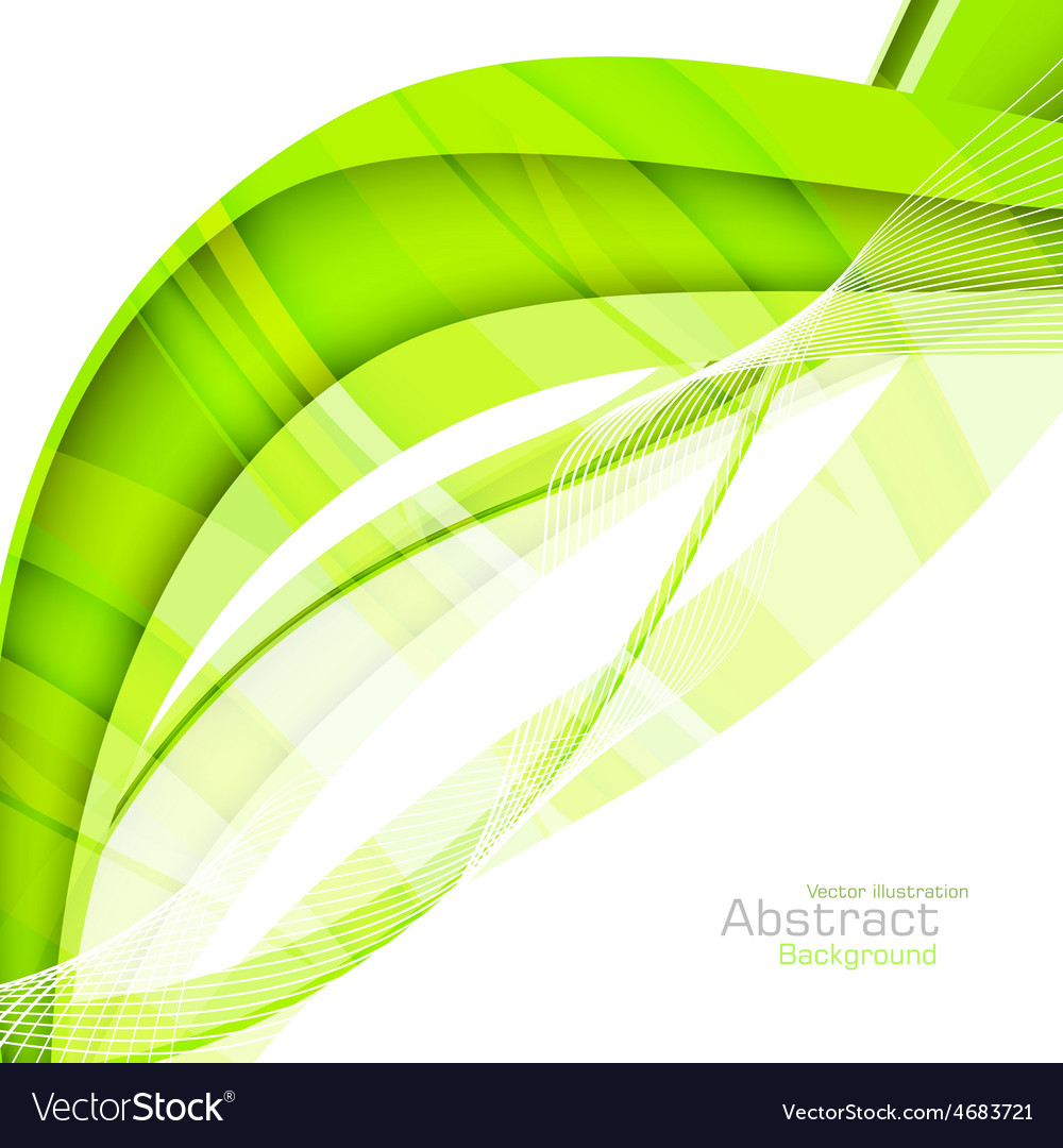 Abstract green waves - data stream concept vector | Price: 1 Credit (USD $1)