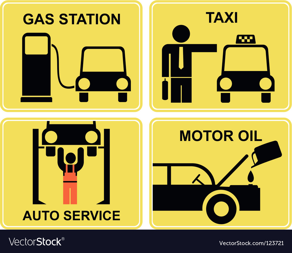 Auto service signs vector | Price: 1 Credit (USD $1)