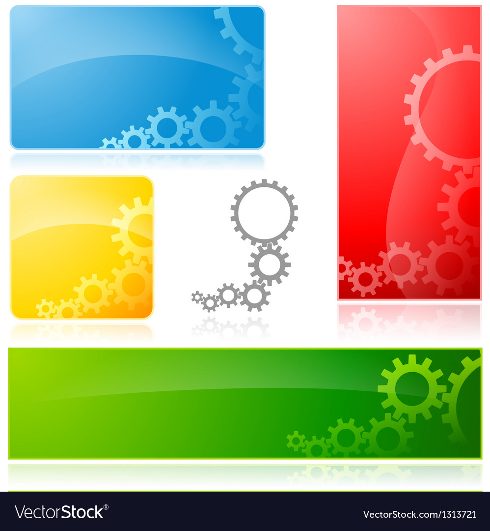 Cogwheel banner vector | Price: 1 Credit (USD $1)