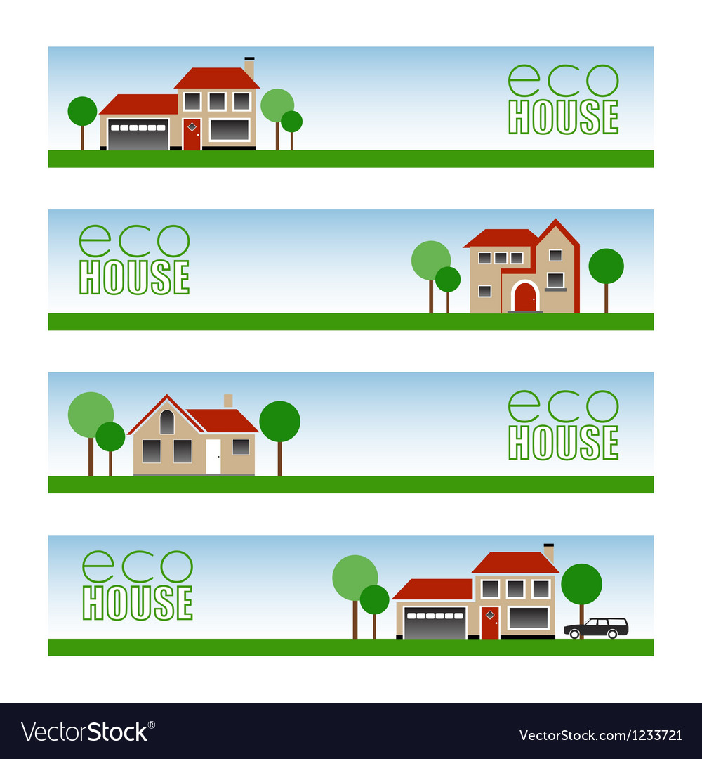 Eco house vector | Price: 1 Credit (USD $1)