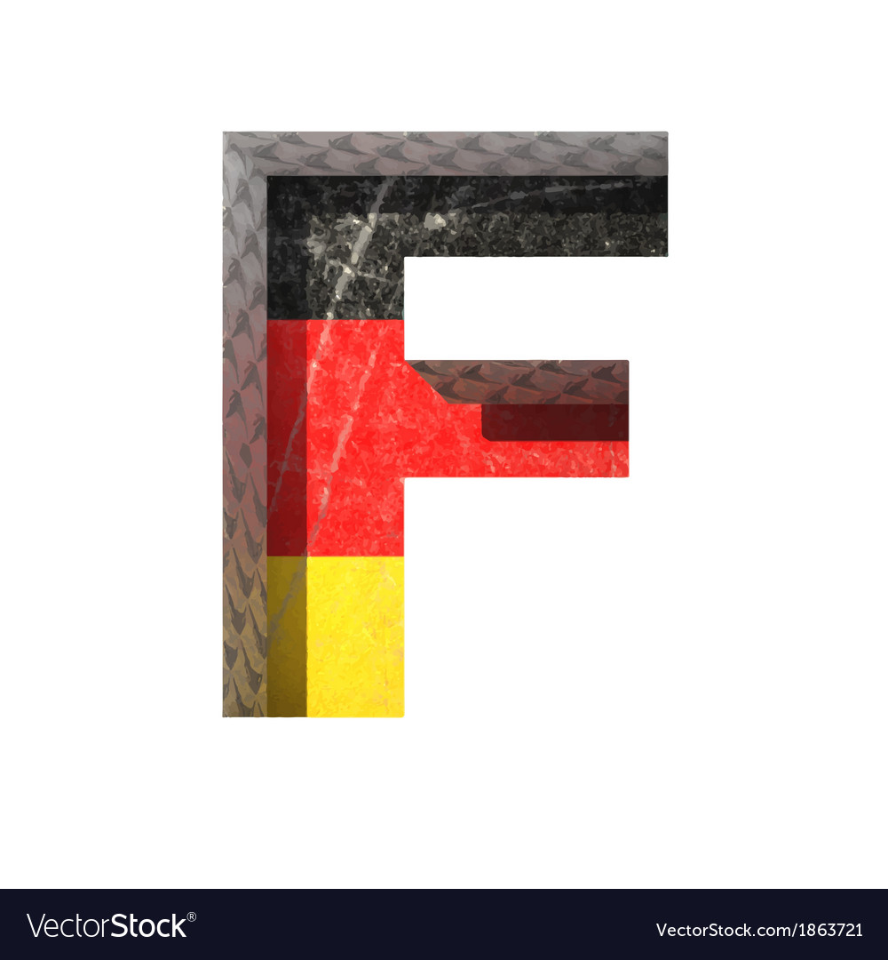 Germany cutted figure f vector | Price: 1 Credit (USD $1)
