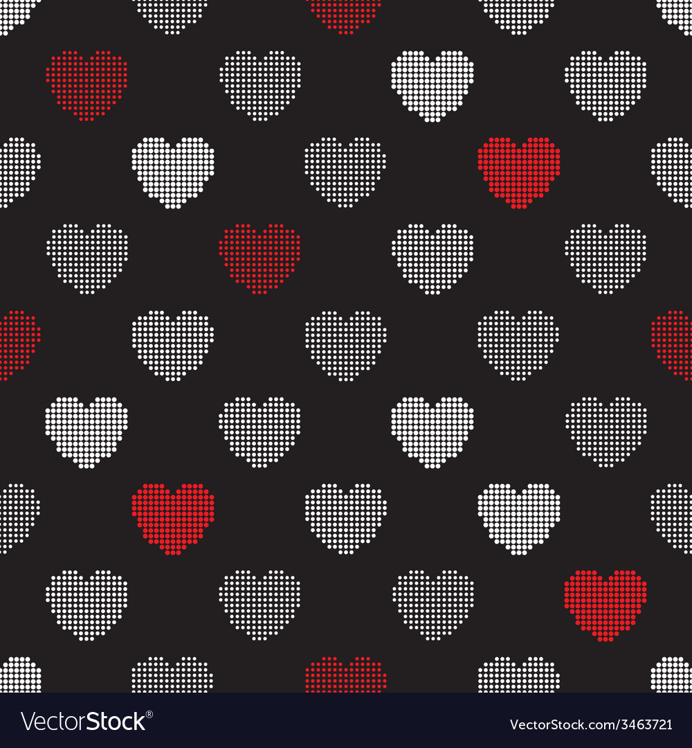 Pattern from halftone hearts vector | Price: 1 Credit (USD $1)