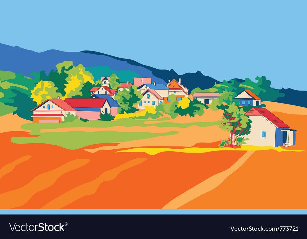 Rural landscape objects vector | Price: 1 Credit (USD $1)