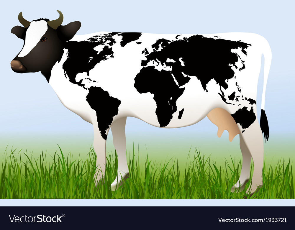 World cow vector | Price: 1 Credit (USD $1)